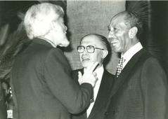 With Sadat and Begin. 1979