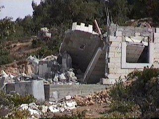 A Palestinian home after demolition (Not related to the case)