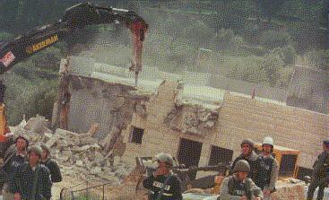 A demolition in Beit-Umar