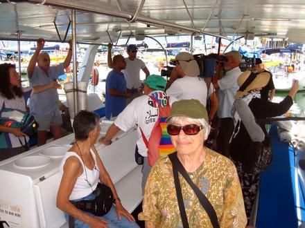 פעילי השלום מתאספים בספינה