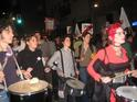 Drummers at the Gaza War anniversary protest