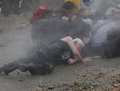 После выстрела водяной пушки, Билин, 2007 год